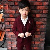 2019 New Boys Suits for Wedding Autumn Winter Boys Wedding Suit Formal Suit for Boy Party Suits Blazer Boy Clothing 3 10T