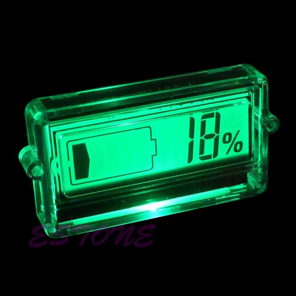 Indicador de Capacidad de la batería Probador 12 V 24 v 48 v coche de baterías d