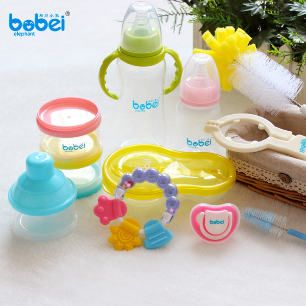 Baby Feeding Supplies Infant Feeder Set With Gift Box Milk Bottle for Newborn Gift цена