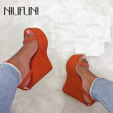 NIUFUNI Ladies Sandals Waterproof Platform Sandals Women Shoes Summer High Heels Ankle Strap Solid Color Buckle Wedges Shoes sorbern khaki women sandals rope high heels platform shoes summer style ladies work shoes wedges sandals ankle strap heels