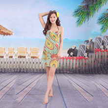 2017 New Women Beach Dress Sexy Sling Beach Wear Dress Sarong Bikini Cover ups Wrap Pareo