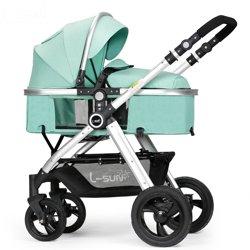 Bambino passeggino Può Sedersi E Si Trovano 2-in1 passeggini per bambini a due vie di spinta Portatile Ad Alta Paesaggio Ombrello carrelli