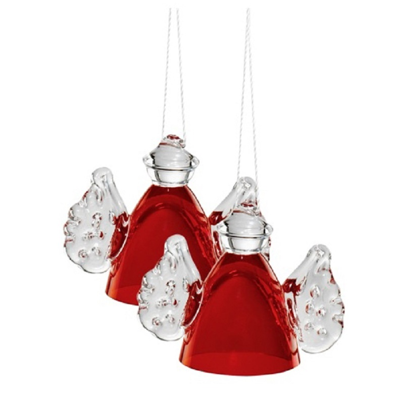 Size: 52 mm bottom: 35 mm Glass decoration glass ornament red Angel Crystal Christmas ornaments Home Furnishing jewelry