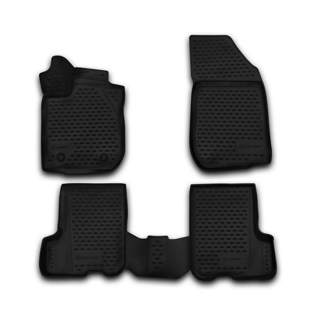 Автомобильные коврики kоврики 3D в салон для RENAULT Sandero/Sandero Stepway, 2014->, 4 шт. высокого качества