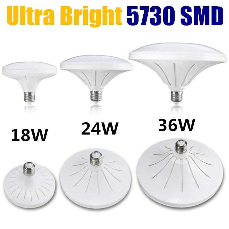 E27 LED Light Bulb 18W 24W 36W 5730 SMD Household Globe Light Energy Saving Lamp Pure White Lighting AC220V 5500-6000K gu10 5w 260lm 3000k 24 smd 5730 led warm white energy saving light bulb white ac 220 240v