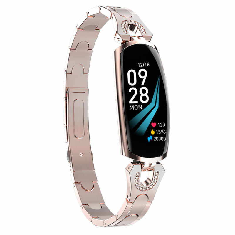 2019 New Smart Watch Women IP67 Waterproof Heart Rate Monitor For Android IOS Phone Fitness Bracelet Smartwatch For Women
