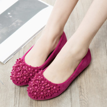 2016 Summer Sweet Flower Woman Flats Comfortable Korean Style Single Doug Shoes Pure Color Multi-colored Flat Female Shoes ST364