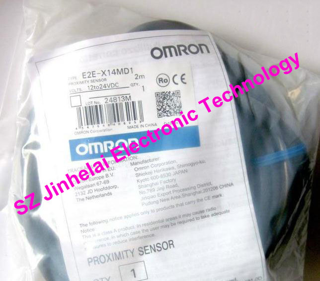 E2E-X14MD1, E2E-X14MD1-Z  New and original  OMRON  Proximity switch  12-24VDC  2M [zob] new original omron shanghai omron proximity switch e2e x18me1 2m 2pcs lot