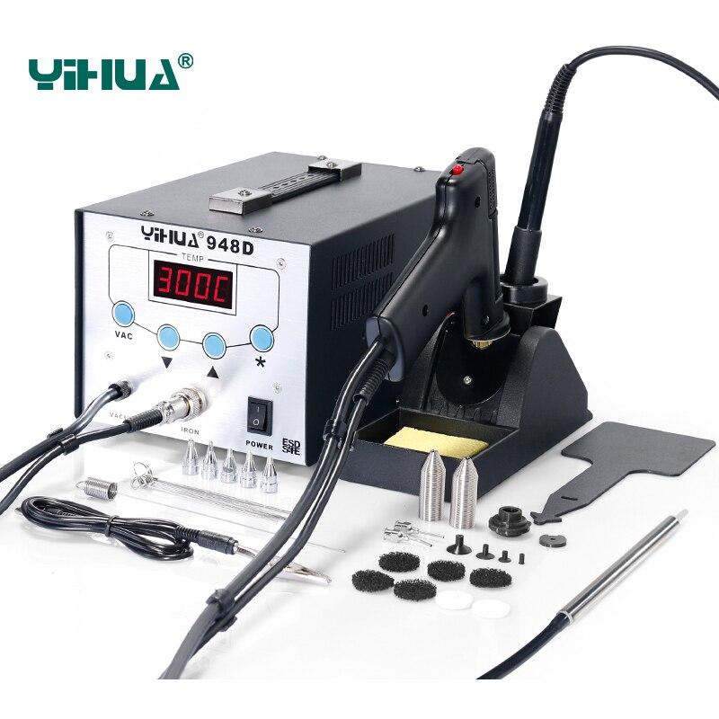 YIHUA 948D fer à souder Station haute fréquence pistolet d'aspiration avec stylo 3 en 1 BGA Station de reprise