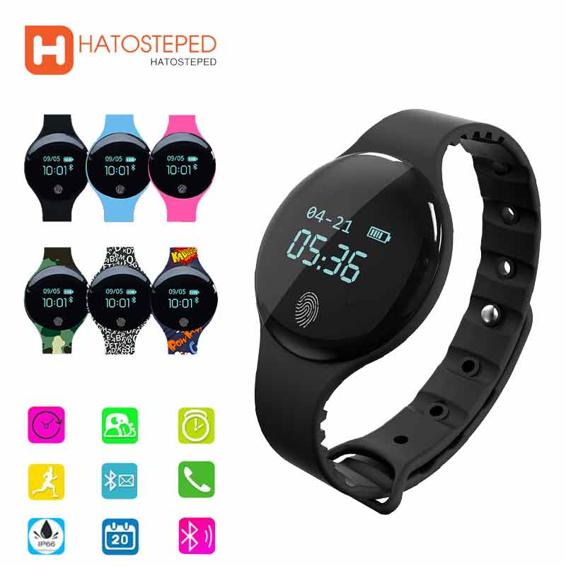 HATOSTEPED Fitness Smart Watch Sports Record Smartwatch Big Touch Screen OLED Bluetooth Waterproof Wristband For Ios Android