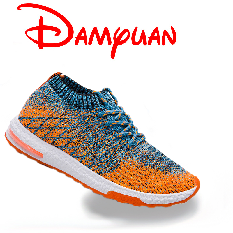 Color Gradient Air-Cushioned Males's Sneakers Breathable Mesh Informal Sneakers Mild Jogging Sneakers Out of doors Leisure Socks Sneakers