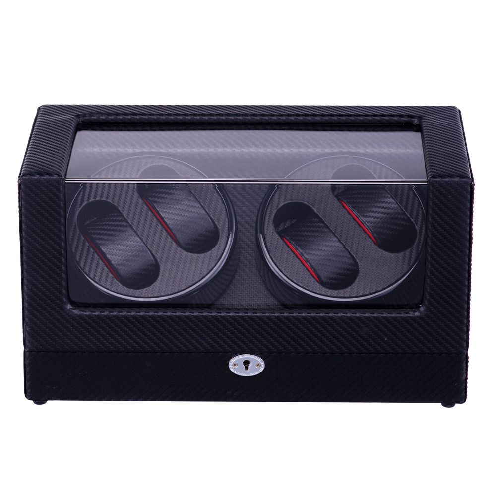 Watch Winder ,LT Wooden Automatic Rotation 4+0 Watch Winder Storage Case Display Box The new style(All carbon) watch winder lt wooden automatic rotation 4 0 watch winder storage case display box the new style all carbon