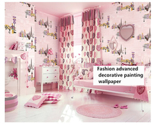 beibehang Modern fashion personality children's room wall paper fresh girl bedroom clothing store pink papel de parede wallpaper 4 colors modern fashion wood pvc wateroof wallpaper papel de parede clothing store milk tea coffee bar derector wall paper roll