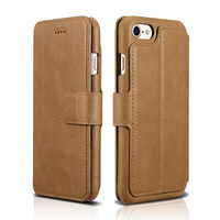 XOOMZ Hot Sale Luxury Head Layer Cowhide Genuine Leather Magnetic Wallet Phone Case For iPhone7 8 4.7 Flip Case Cover
