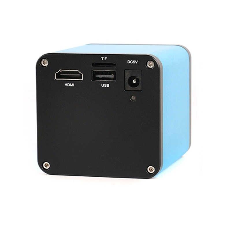 1080 จุด HDMI SONY IMX290 USB วิดีโอดิจิตอลกล้องจุลทรรศน์อุตสาหกรรม + 180X 300X C - Mount เลนส์ + 144 led ไฟ + ขาตั้ง