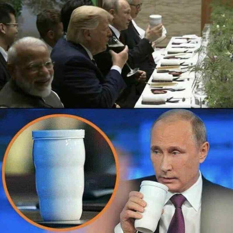 2019 Hot Sale Putin's Same Thermal Cup Putin Same Mug Trump Putin G20 Toasted Thermal Cups Ceramic Cups For Home Office