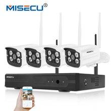 Misecu легкая установка Plug & Play 2.4 г Wi-Fi комплект 720 P 1080 P VGA/HDMI 4CH NVR Беспроводной P2P 720 P WI-FI IP Камера Водонепроницаемый CCTV