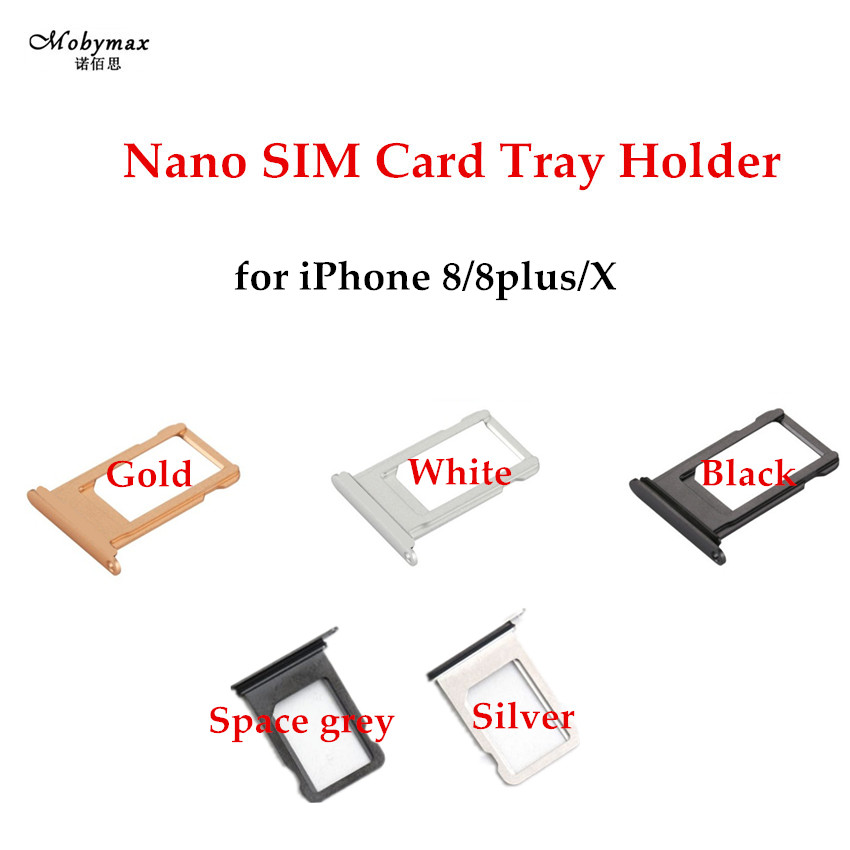 Nano SIM Card Tray Holder For iPhone X 8 8 plus SIM Holder Slot Tray Container Adapter Replacement Repair Part for iPhone 8plus