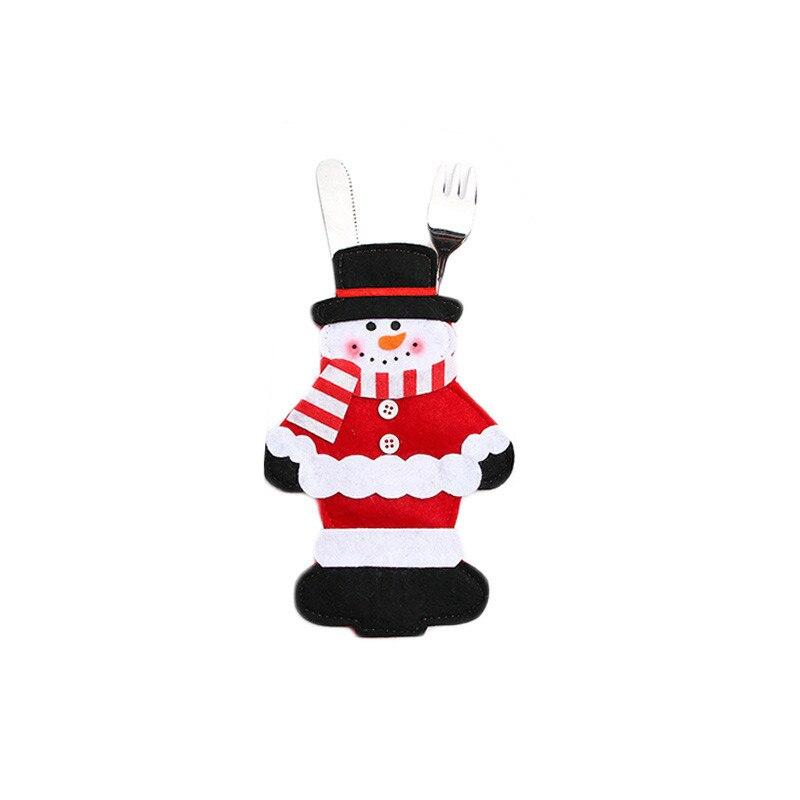 Шляпа Санты, олень, Рождество, Год, карманная вилка, нож, столовые приборы, держатель, сумка для дома, вечерние украшения стола, ужина, столовые приборы 62253 - Цвет: E