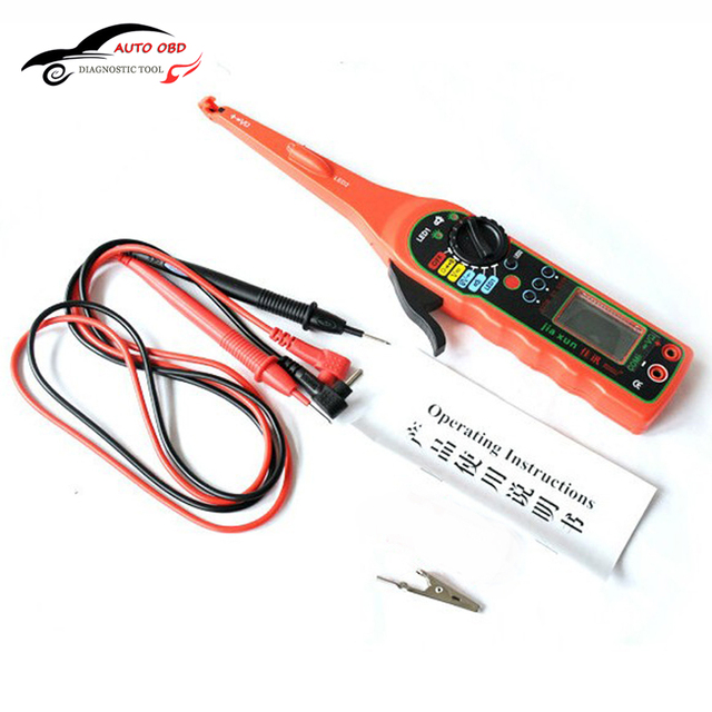 Multi-function Electric Automotive Circuit Tester Multimeter Lamp Car Repair Automotive Electrical Multimeter (Screen) Free Ship