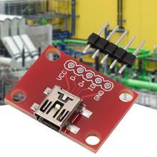 Mini USB Adapter Plate Breakout Board for USB Mini-B Extension Breakout Board Module vcard board allwinner a20 cpu mini card pc opensource platform for elp usb camera board