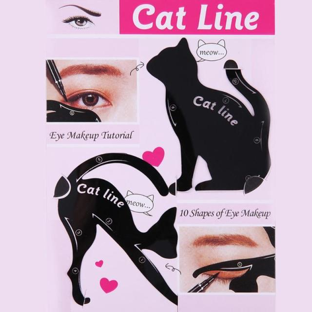 2pcs/Set Beauty Eyebrow mold Stencils Cat Eyeliner Stencil Makeup Eyebrow Models Tool Template Shaper Model for women 5