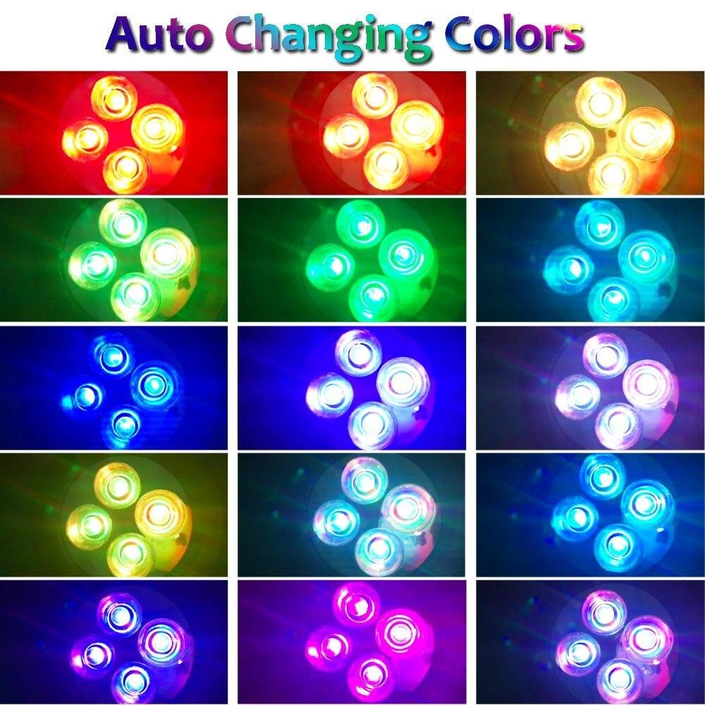 T-SUNRISE Outdoor Lighting 4 LED Solar Powered Light Adjustable LED Solar Landscape Lamp for Garden RGB Color