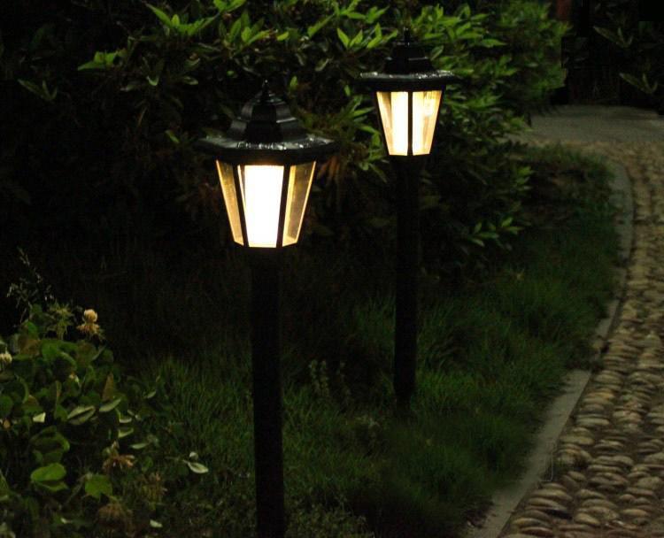 Feimefeiyou new waterproof outdoor solar power lawn lamps for Luces verdes para jardin