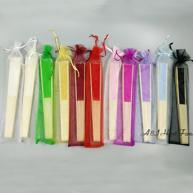 100pcs lot Custom Name Silk Bamboo Folding Hand Fan Birthday Anniversary Souvenir Bridal Party gift Wedding
