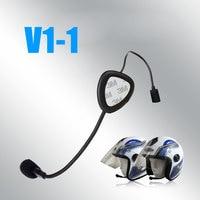 2016 V1 1 Motos Motorcycle Wireless V3 0 EDR Bluetooth ABS Plastic Interphone Intercom Headset Helmet