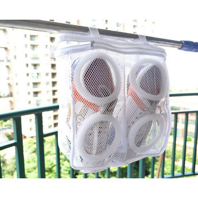 1 pz sacchetto di Nylon bucato Delicato Comodo Reggiseno di Lavaggio Della Bianc
