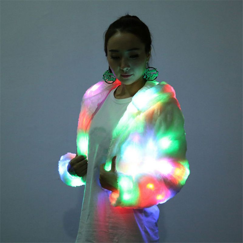 Colorful Led Luminous Costume Clothes Dancing LED Growing Lighting Robot Suits Clothing Women Event Party Supplies Stage Props