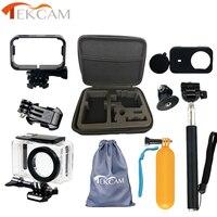 Tekcam Action Camera Accessories Set For Mijia 45m Waterproof Case Camera Mount Selfie Stick for xiaomi Mijia Mini Action Camera