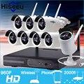 Kit de Sistema de CCTV 960 P 8ch NVR HD Inalámbrico Al Aire Libre IR Visión nocturna Cámara IP wifi de la Cámara kit Home Seguridad Sistema vigilancia