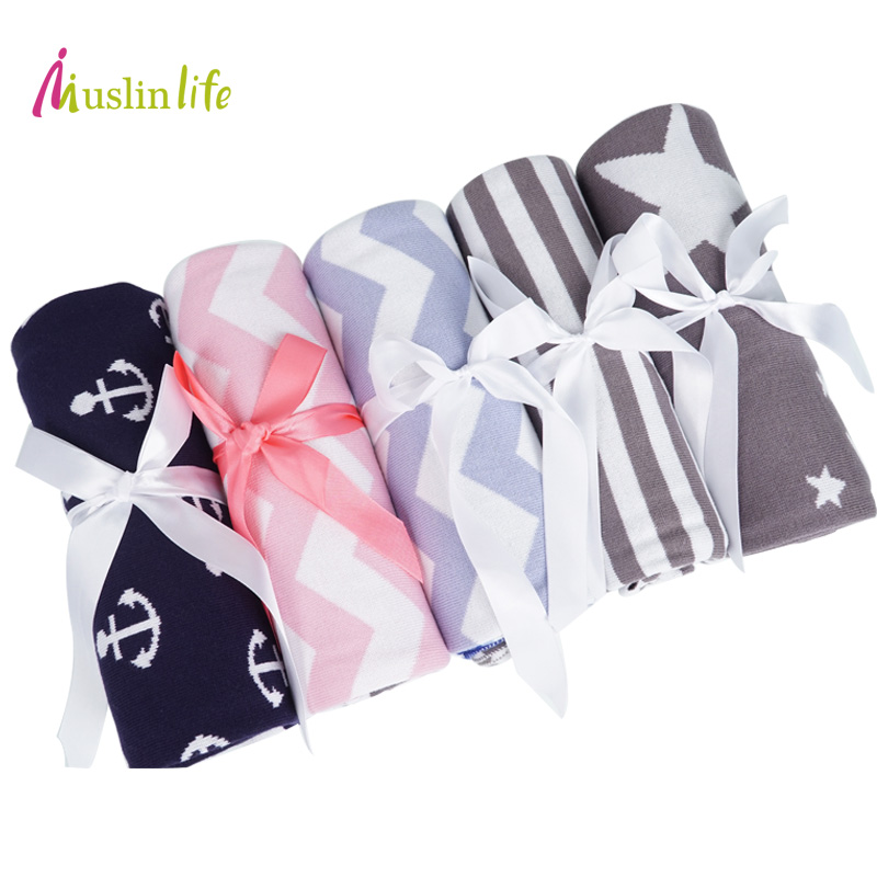 Muslinlife BabyToddler Bedding Knitted Baby Blanket Wrap Soft Blankets Newborn Swaddling Kids Gift Girls Blankets new baby blankets wrap soft blankets baby toddler bedding knitted newborn cute fox swaddling bed sofa blanket mat kids gift