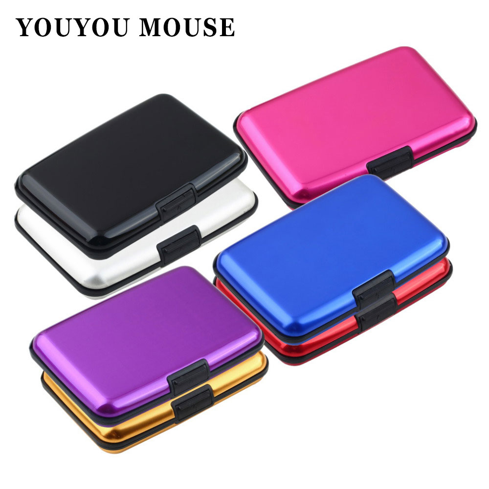 ᑎ‰YOUYOU MOUSE Fashion Business Card Holder Wallets Aluminum Metal ...