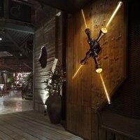 Loft ретро промышленные трубы Настенные светильники Винтаж светодио дный Настенные светильники дизайнеры настенные бра Arandela античная латун