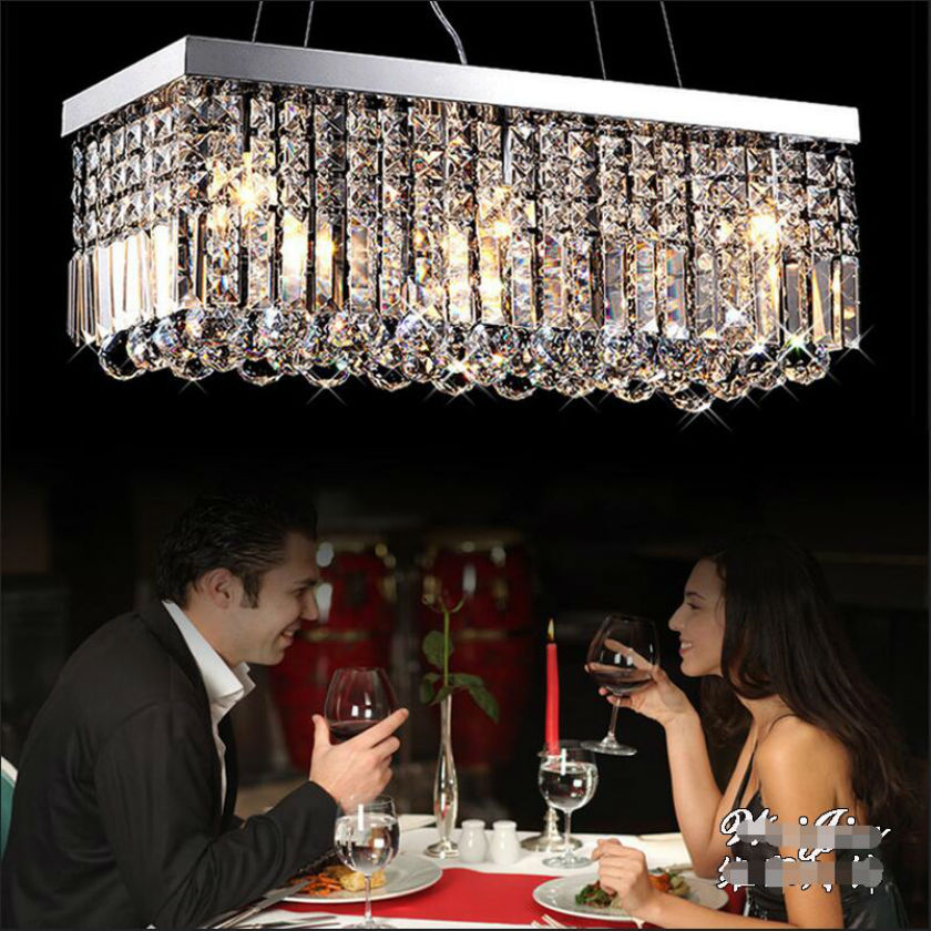 rectang K9 LED Crystal Chandelier Crystal Lamp Modern Crystal Light Fixture Circle Hanging Lustres LED Luminaire Home Lighting k9 crystal chandelier 6 arms luminaire drop lighting fixturer glod color hanging chandelier cheaper price glass lamp