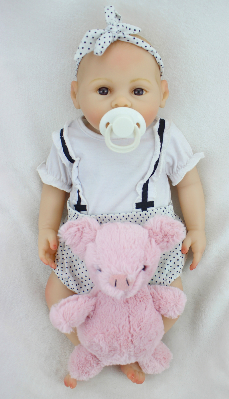 Bebe girl reborn 43cm full silicone reborn baby dolls Bald head magnetic mouth best child gift toys dolls Bebe girl reborn 43cm full silicone reborn baby dolls Bald head magnetic mouth best child gift toys dolls