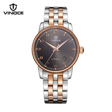 VINOCE 2016 New men casual fashion watch mechanical movement waterproof whole steel luxury sports brand v633238