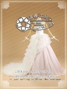Fate/stay night Zero Saber Artoria Pendragon Sakura, белое свадебное платье, карнавальный костюм, праздничное платье на Хэллоуин, на заказ