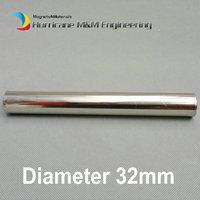 Dia. 32x500 мм неодимовый магнитная палочка 6 К 12 К GS цилиндр фильтр сильный неодимовый магнит Нержавеющаясталь 304 гигиенические удаления желез