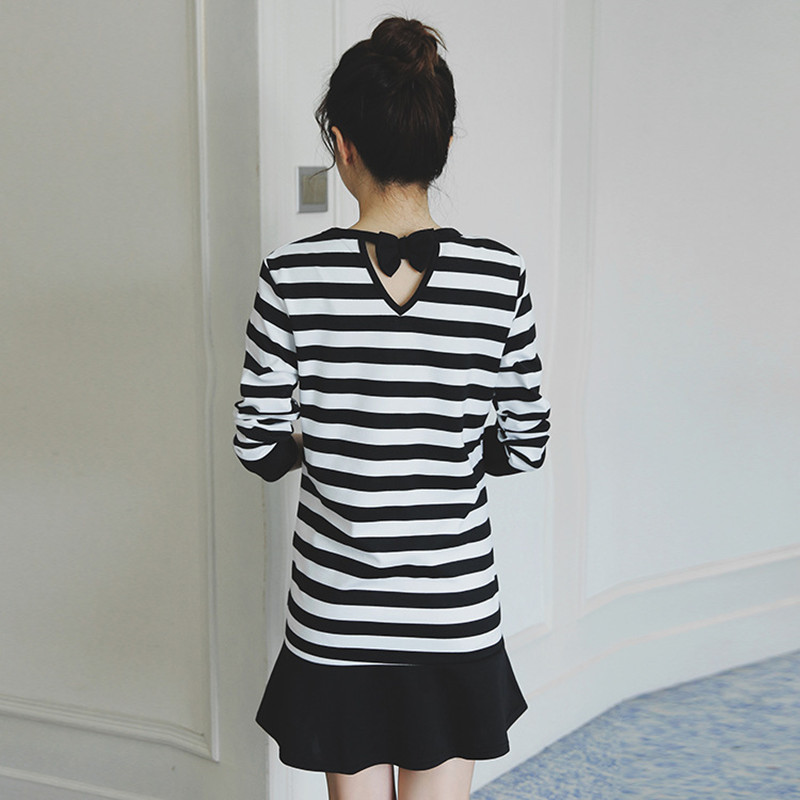 High Quality Maternity Dress Hot Striped Breastfeeding Clothing For Pregnant Women Long Sleeve Nursing Pregnancy Clothes B0396
