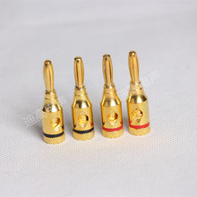 Gold plated speaker amplifier plug audio banana head banana plug terminal block speaker wire plug