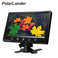 9 Inch TFT LCD Color Car Monitor With Widescreen Support 2CH Video Input For Rear View