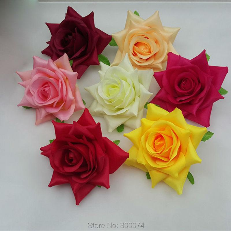 Silk flowers craft supplies crafting 5pcs 13cm large silk rose flower head for a wedding artificial fake mightylinksfo