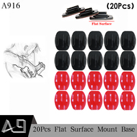 A9 20Pcs Flat Surface Base Mount with 3M VHB Adhesive Stickers for Gopro Hero 5 4 3 for SJ4000 for Eken Accessories A916