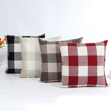 Lattice Sofa Bed Home Decor Pillow Case Cushion Cover 2018 NEW fashion home decor plaid Pillow Case Cushion Cover ship from USA(China)