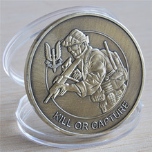 3PCS/Lot, Kill Or Capture - Special Air Service SAS Who Dares Wins Bronze Challenge Coin, free shipping,