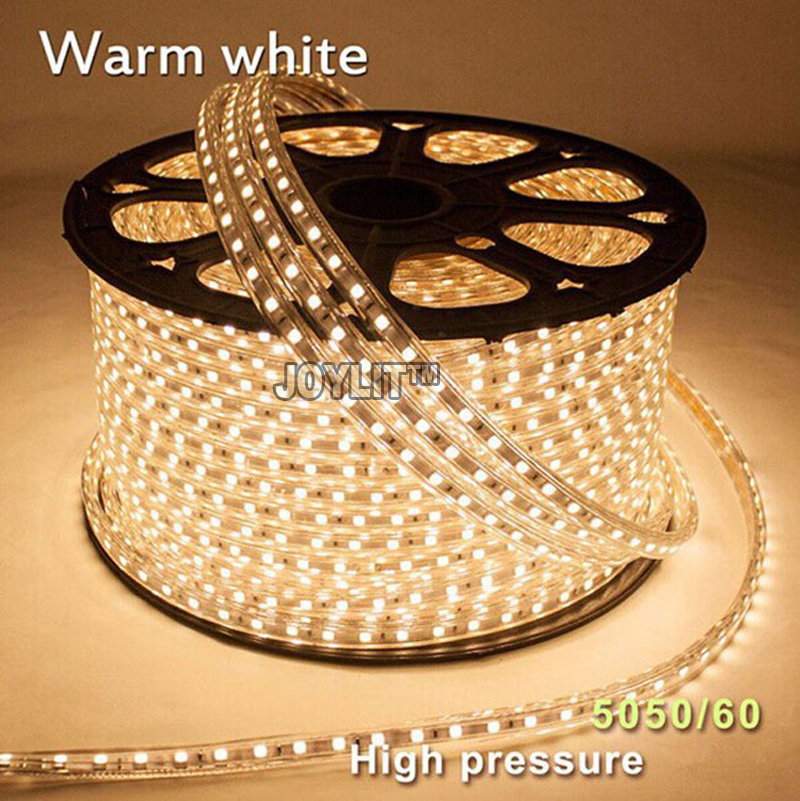 DHL Бесплатная 100 м/лот 60leds/M 110 В 220 В SMD 5050 светодиодные полосы водонепроницаемый Рождество /Свадебные/Главная/украшение партии бордовый